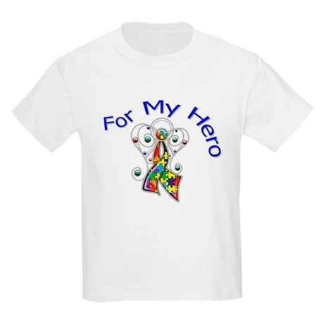 Autism For My Hero Kids Light T-Shirt