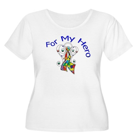 Autism For My Hero Women's Plus Size Scoop Neck T-