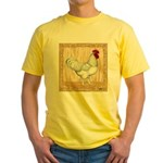 Gold Framed Rooster Yellow T-Shirt