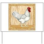 Gold Framed Rooster Yard Sign