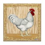 Gold Framed Rooster Tile Coaster