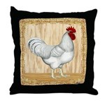 Gold Framed Rooster Throw Pillow
