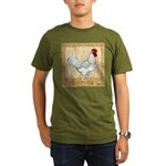 Gold Framed Rooster Organic Men's T-Shirt (dark)
