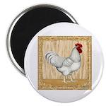 Gold Framed Rooster Magnet
