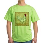 Gold Framed Rooster Green T-Shirt