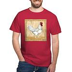 Gold Framed Rooster Dark T-Shirt