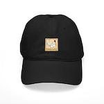 Gold Framed Rooster Black Cap