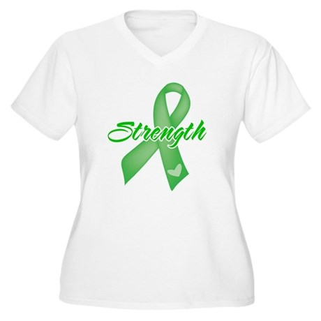 Strength - Bile Duct Cancer Women's Plus Size V-Ne