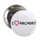 I Love Archery Button