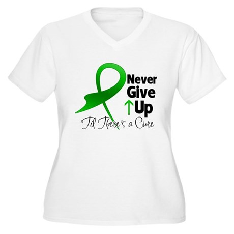 Bile Duct Never Give Up Women's Plus Size V-Neck T