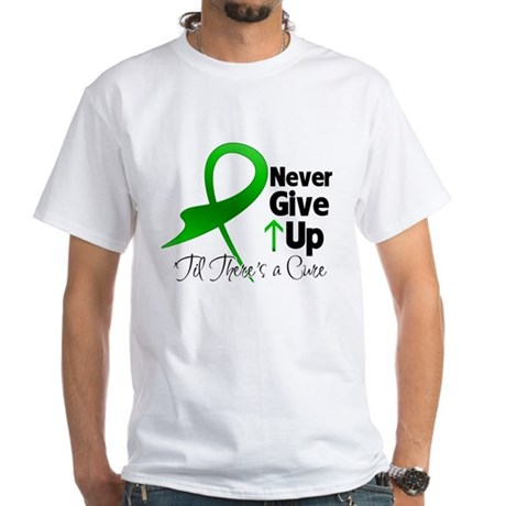 Bile Duct Never Give Up White T-Shirt
