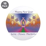 "Aurora mandala 3.5"" Button (10 pack)"