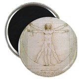 "Cute Vitruvian man 2.25"" Magnet (10 pack)"
