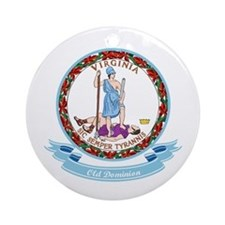 Virginia Seal Ornament (Round)