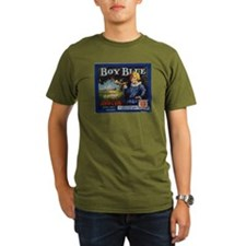 Boy Blue Apples Organic Men's T-Shirt (dark)
