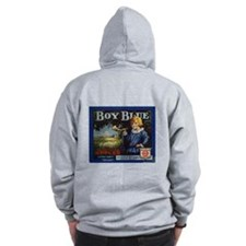 Boy Blue Apples Zip Hoodie