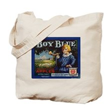 Boy Blue Apples Tote Bag