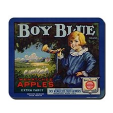 Boy Blue Apples Mousepad