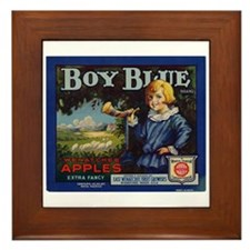 Boy Blue Apples Framed Tile