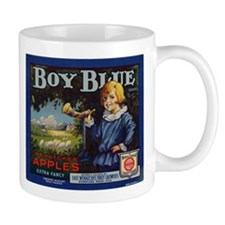 Boy Blue Apples Mug