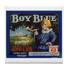 Boy Blue Apples Tile Coaster