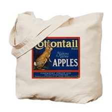 Cottontail Apples Tote Bag