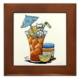 West Highland Iced Tea Framed Tile