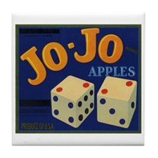 Jo-Jo Apples Tile Coaster