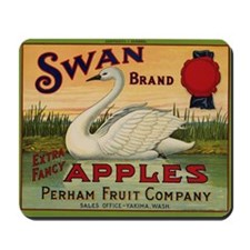 Swan Apples Mousepad