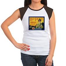 Bo-Peep Apples Women's Cap Sleeve T-Shirt