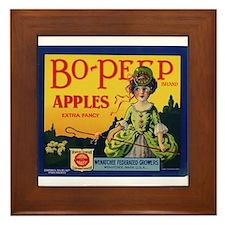 Bo-Peep Apples Framed Tile