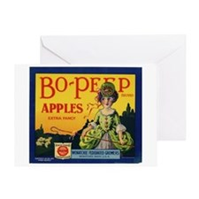 Bo-Peep Apples Greeting Card