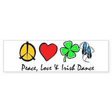 Peace Love Irish Dance Bumper Sticker