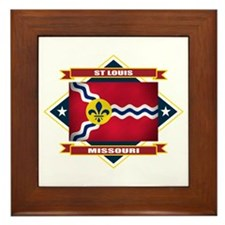 St Louis Flag Framed Tile
