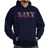 Navy Zebra Girlfriend Hoodie