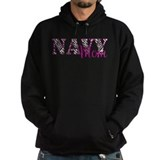 Navy Zebra Mom Hoodie