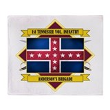 1st Tenn Volunteer Infantry Throw Blanket