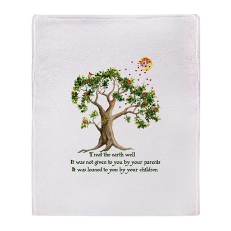 Kenyan Nature Proverb Throw Blanket