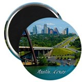 Austin Texas Skyline Bridge Magnet