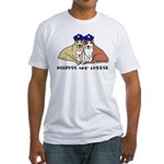 Boofuss and Cheese Fitted T-Shirt
