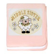 Daisy Lamb Middle Sister baby blanket