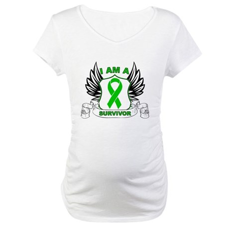 I am a Survivor Bile Duct Can Maternity T-Shirt