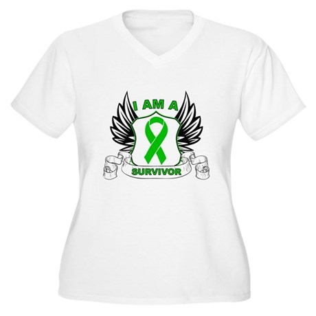 I am a Survivor Bile Duct Can Women's Plus Size V-