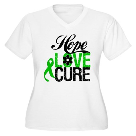 Hope Love Cure Bile Duct Women's Plus Size V-Neck 