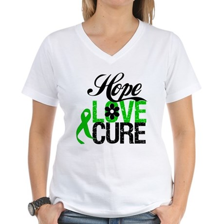 Hope Love Cure Bile Duct Women's V-Neck T-Shirt