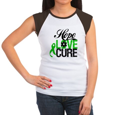 Hope Love Cure Bile Duct Women's Cap Sleeve T-Shir