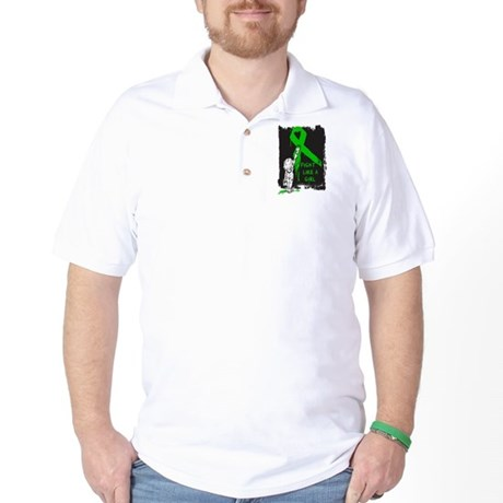 Graffiti FLAG Bile Duct Cance Golf Shirt