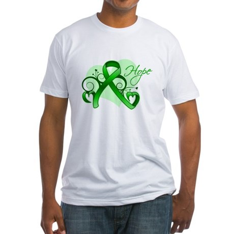 Heart of Hope Bile Duct Cance Fitted T-Shirt