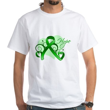 Heart of Hope Bile Duct Cance White T-Shirt