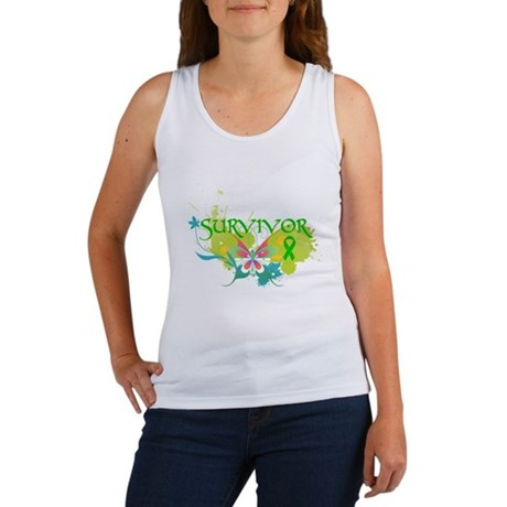 Butterfly Bile Duct Cancer Women's Tank Top